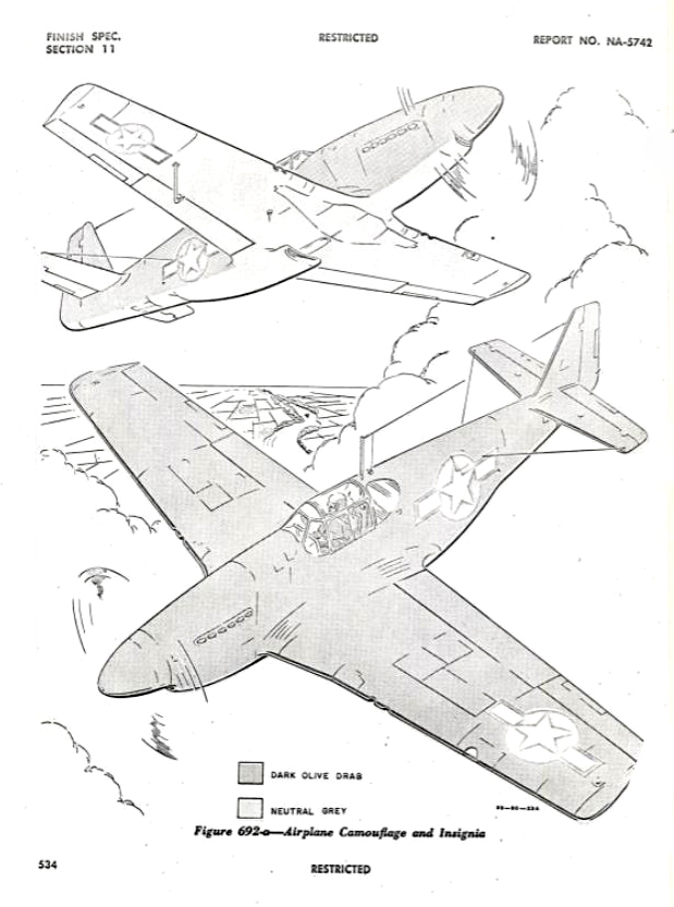 P-51 B&C Structural Repair Instructions: Finish Specifications Section 11 -Figure 692-a
