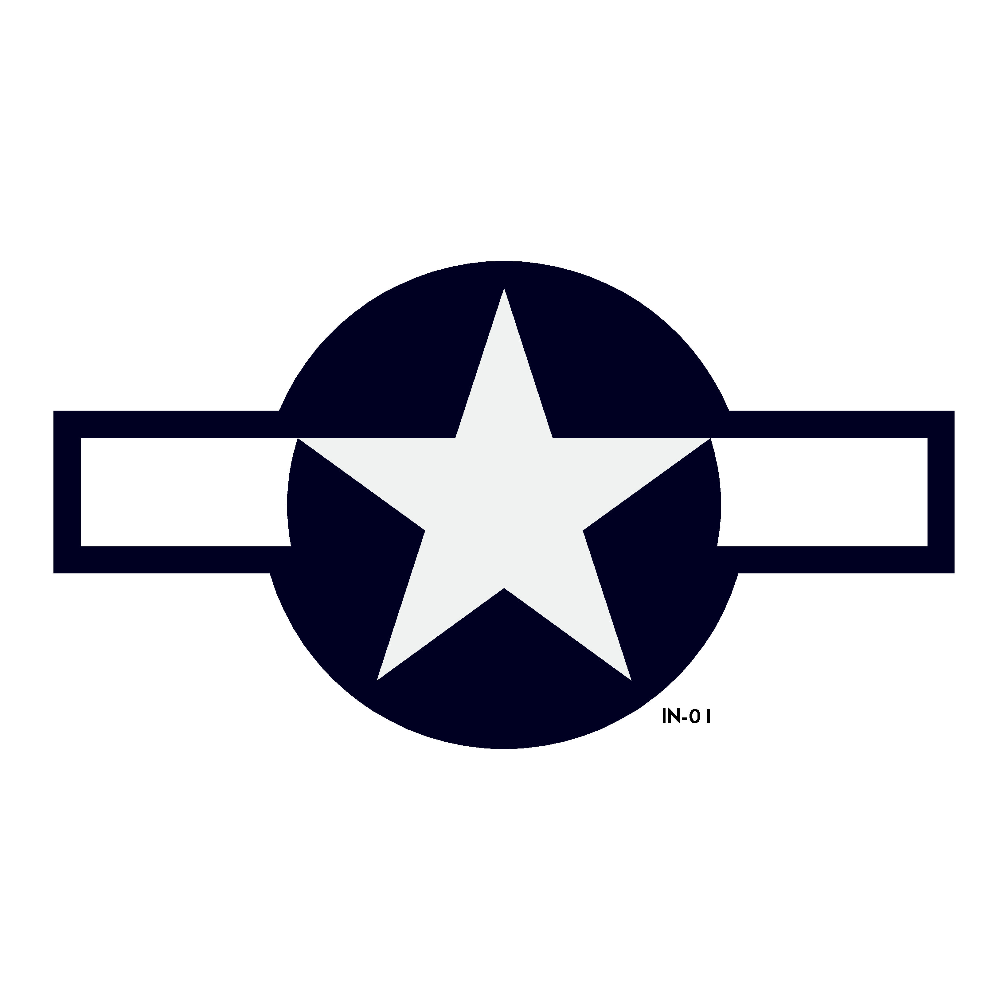 U.S. Army Air Force National Star and Bars Insignia - AN-I-9b