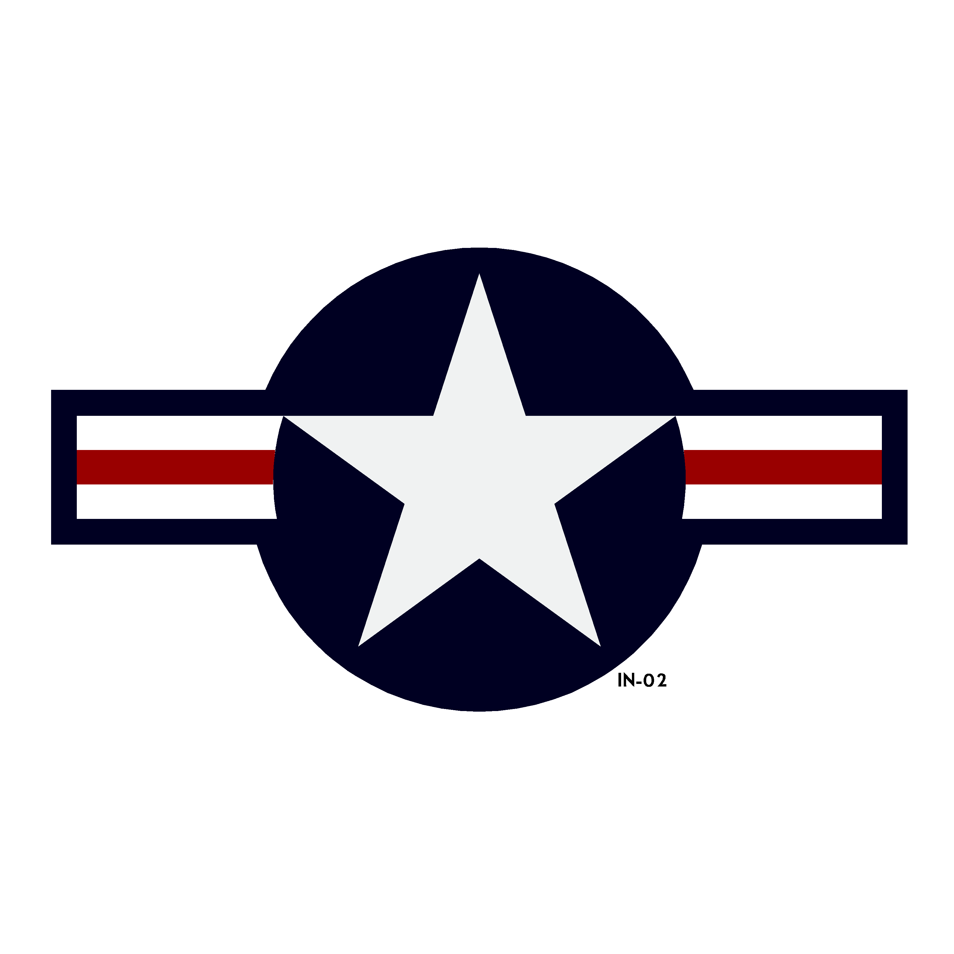 U.S. Army Air Force National Star and Bars Insignia - Spec. AN-I-9b