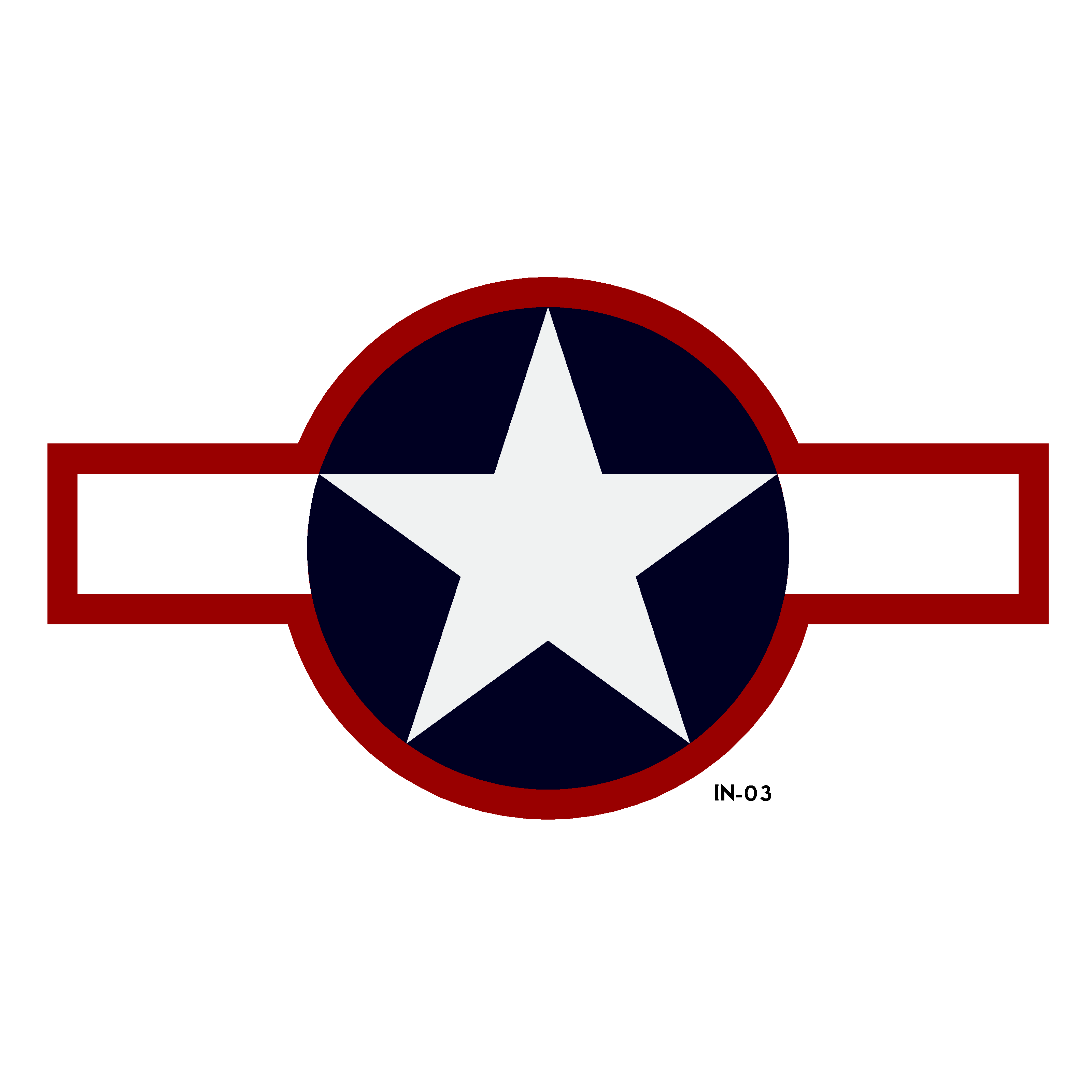 U.S. Army Air Force National Star and Bars Insignia - Spec. AN-I-9a