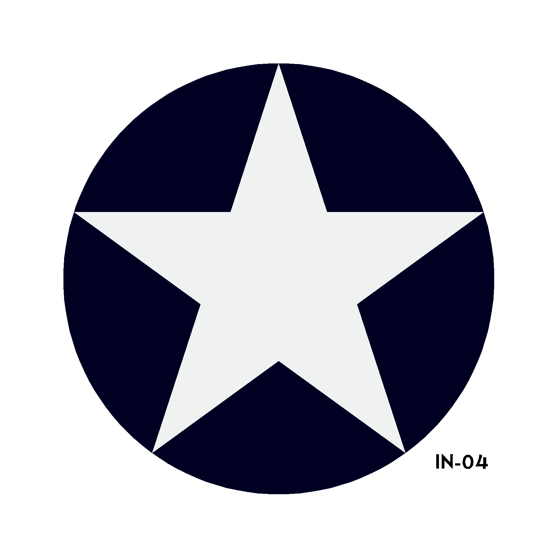 U.S. Army Air Force National Star in Circle Insignia - Spec. No. 24102K